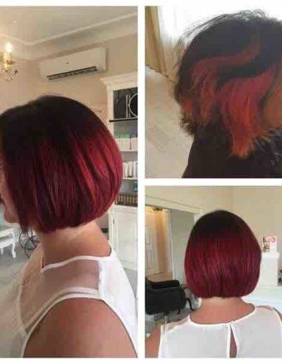 before-after-hair-restyle-carinya-house-of-hair-&-beauty-colour-central-coast-salon-toukley-salon-de-lorenzo-stunning-colour-red-hair-