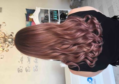 carinya-house-of-hair-&-beauty-colour-central-coast-salon-toukley-salon-de-lorenzo-nova-fusion-rose-gold-stunning-colour-beautiful-smooth-blow-dry